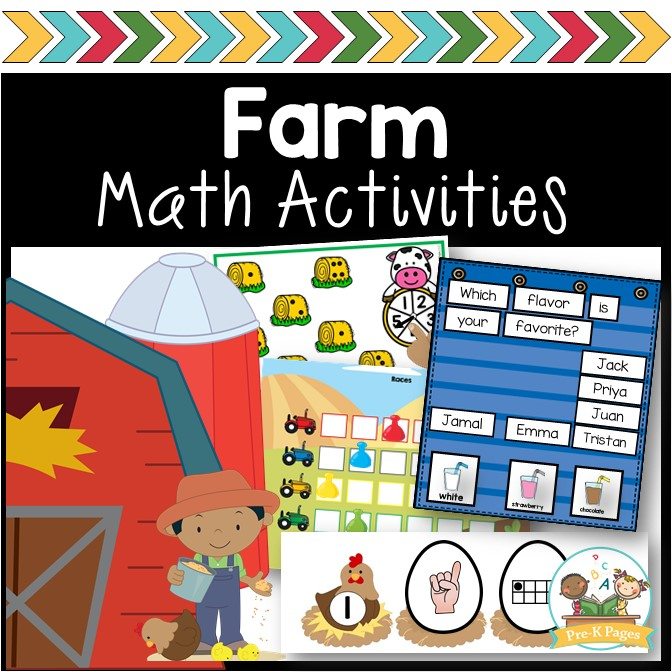 Farm Math Activities; patterning; shapes; graphing; numbers; counting