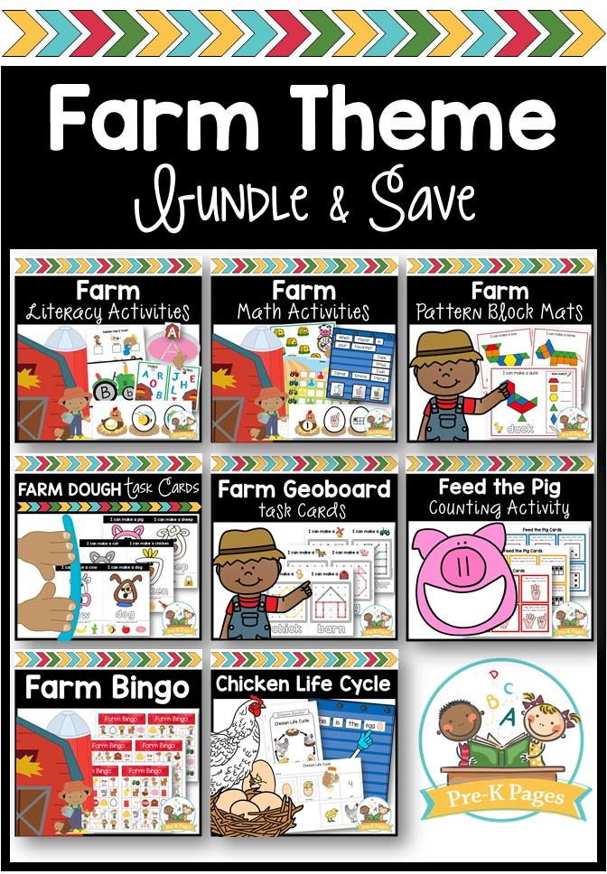 Farm Theme; farm activities; preschool; pre-k; farm theme