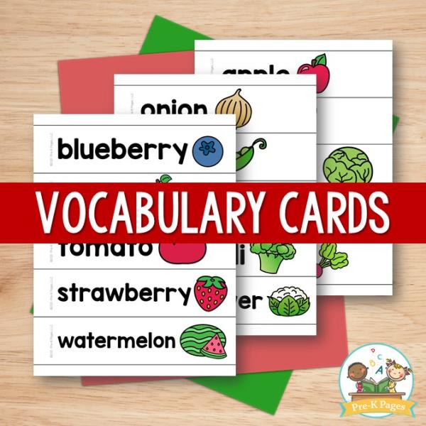 Farmers Market Vocabulary Cards