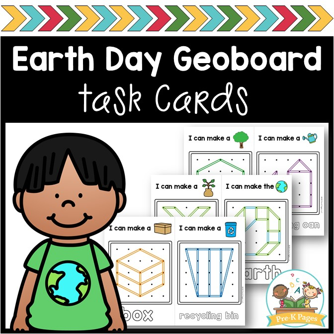 Earth Day Theme Geoboards