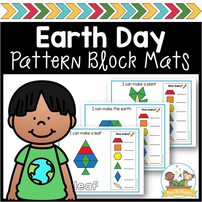 Earth Day Pattern Block Mats