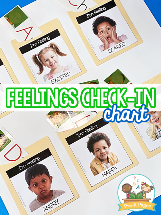 Feelings Check In Chart for Preschool