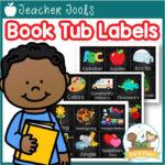 Editable Book Tub Labels