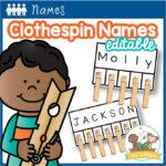 Clothespin Name Activity