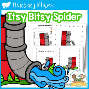 Itsy Bitsy Spider Literacy and Math