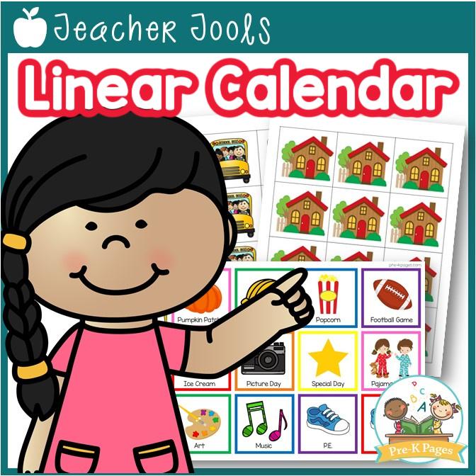 Linear Calendar Kit for Preschool