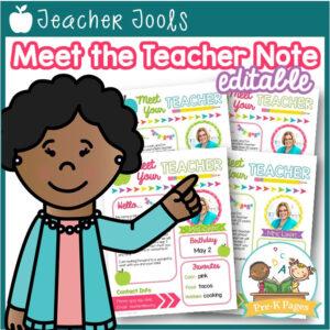 Editable Meet the Teacher Letter Template