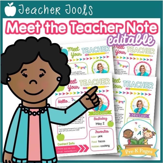 Editable Meet the Teacher Note