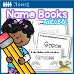 Editable Student Name Books