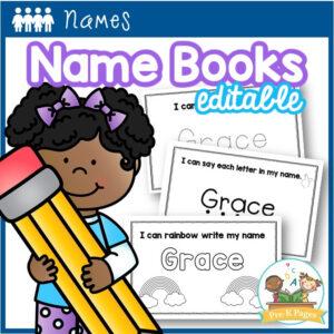 Editable Name Books