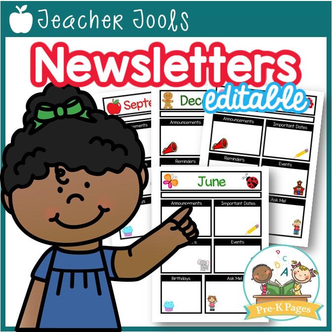 Editable Newsletter Templates for Preschool