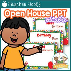 School Theme Open House PowerPoint