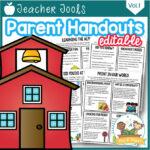 Editable Parent Handouts