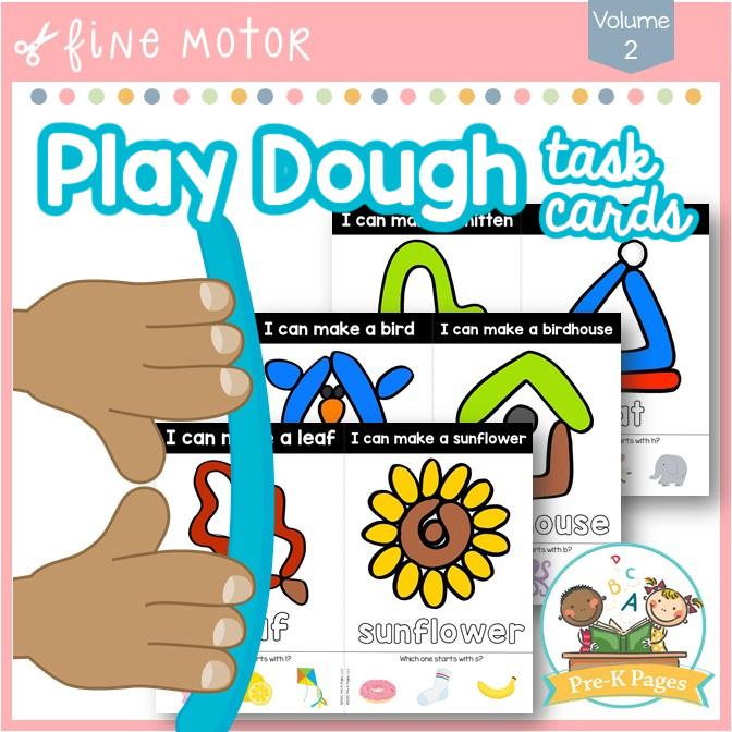 Play Dough Task Cards Volume 2
