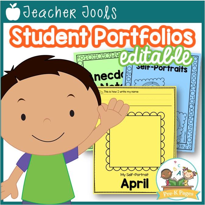 Editable Student Portfolios for Preschool