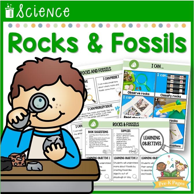 Preschool Science Lessons Rocks Fossils