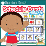 Editable Picture Schedule Cards with Times