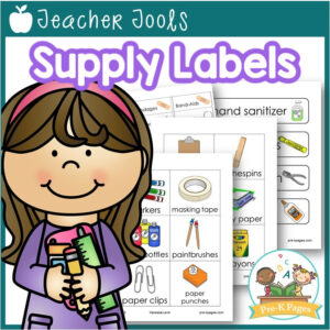 Printable Classroom Supply Labels