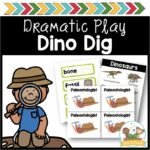 Dinosaur Dig Dramatic Play Props
