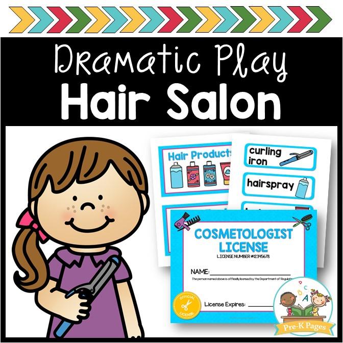 Dramatic Play Hair Salon Props