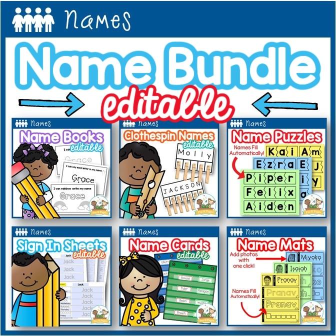 Name Activity Bundle for Preschool and Pre-K