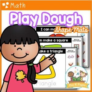 2D Play Dough Shape Mats