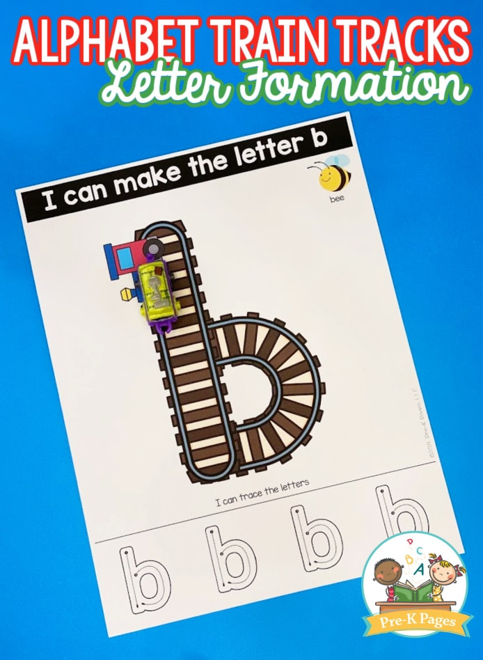 Alphabet Train Tracks Task Cards