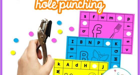 Alphabet Fine Motor Hole Punch Cards