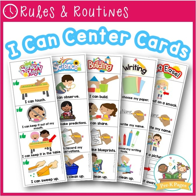 I Can Center Task Cards for Preschool and Pre-K