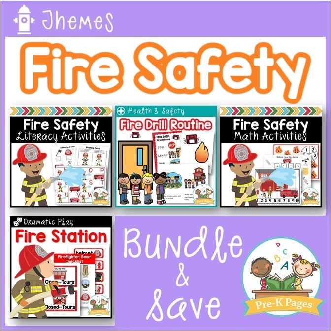 Fire Safety Activity Bundle for Preschool and Pre-K
