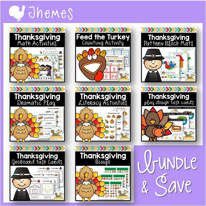 Thanksgiving Activity Bundle for Preschool
