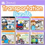 Transportation Theme Activity Bundle for Preschool and Pre-K