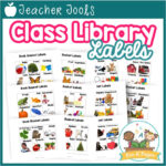 Printable Book Bin Labels for Classroom Library