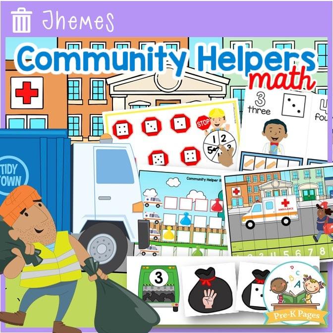 Community Helper Theme Math Activities