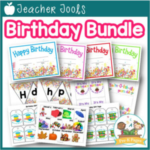 Birthday Certificates, Display, Student Gift Tags | Real Photos