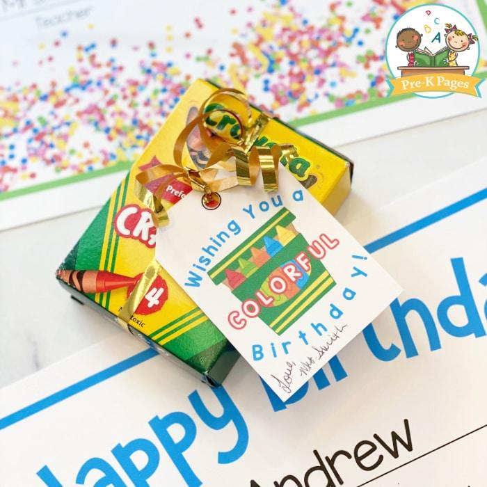 Birthday Tag printable for Crayons