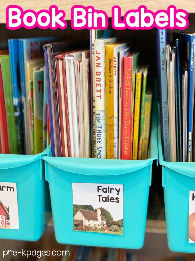 Book Bin Labels for Kindergarten