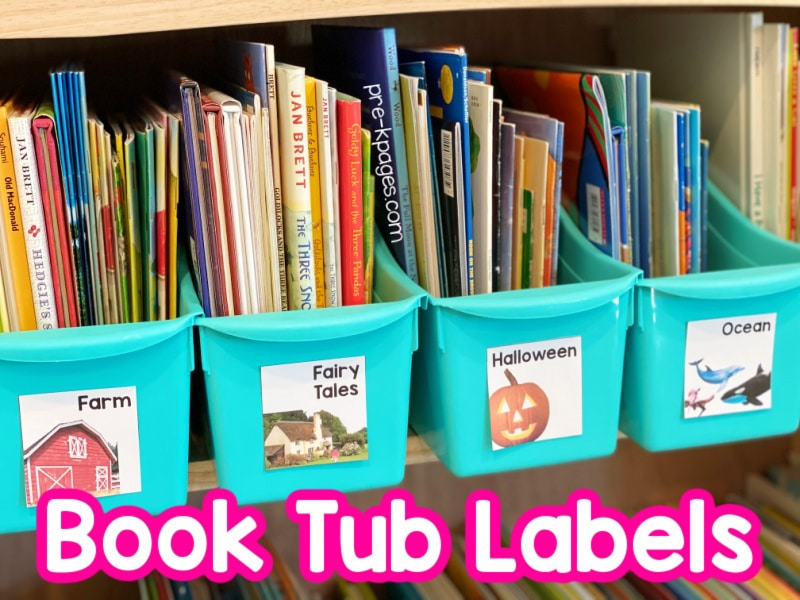 Classroom Library Labels for Pre-K