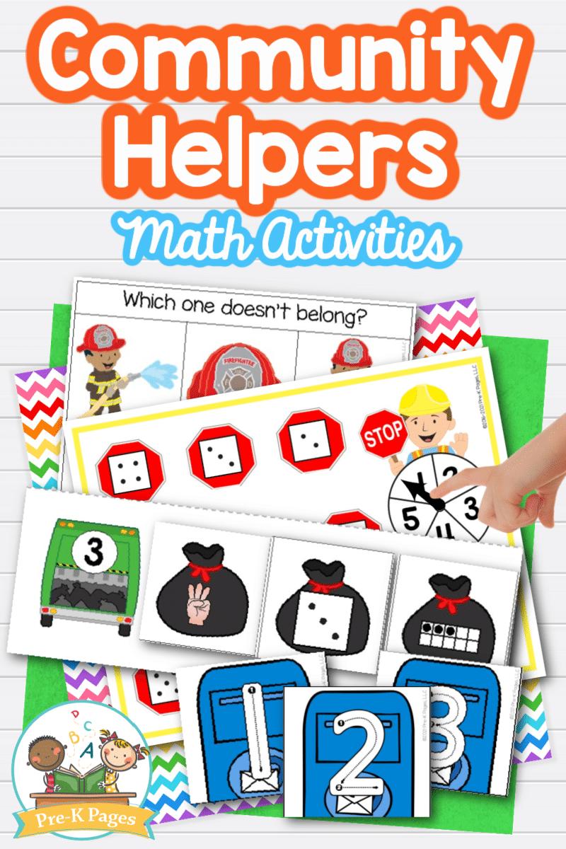 Community Helpers Math Activities