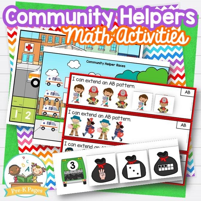 Community Helpers Theme Math Activities