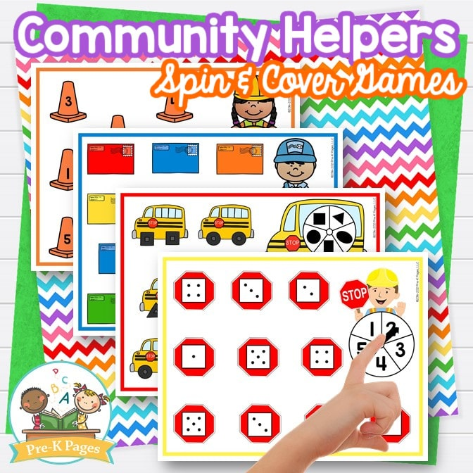 Community Helpers Theme Spin and Cover