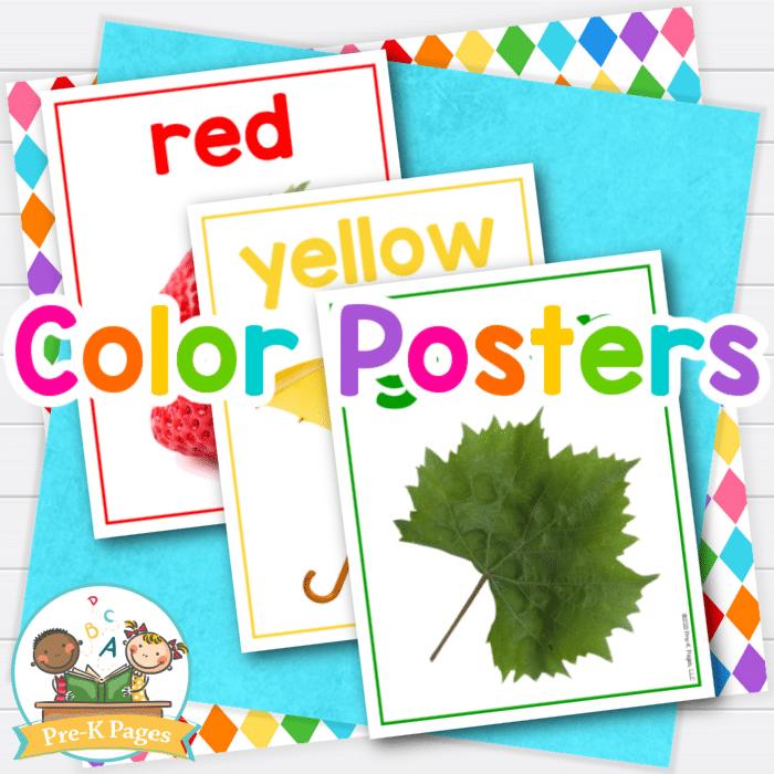 Color Posters for Preschool